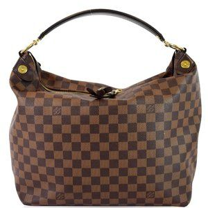 LOUIS VUITTON Duomo Hobo Damier Ebene Hobo Bag